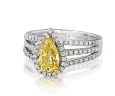 Striking Canary Diamond Engagement Ring! Available at Houston Jewelry!