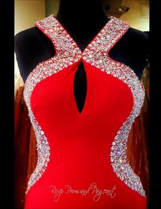 red-jersey-prom-dress-low-open-back-high-beaded-neckline-115jc0545700398 at Rsvp Prom and Pageant, Atlanta, GA