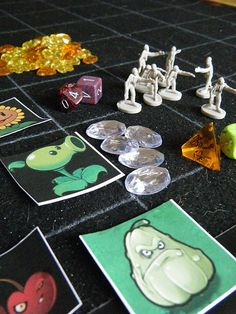 Plants vs. Zombies homemade board game.  I love the app.  This might be fun to make though...