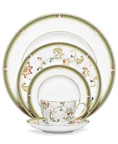 Wedgwood Oberon 5 Piece Place Setting - Fine China - Dining & Entertaining - Macy's. $151