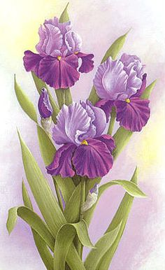 GIPHY is how you search, share, discover, and create GIFs. Art Floral, Deco Floral, Iris Painting, Fabric Painting, Flower Prints, Flower Art, Beautiful Artwork, Beautiful Flowers, Watercolor Flowers