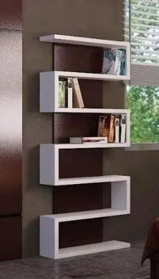Biblioteca Minimalista Tipo S - Acabado En Laca - Envios
