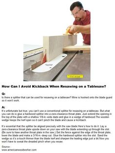 How Can I Avoid Kickback When Resawing on a Tablesaw
