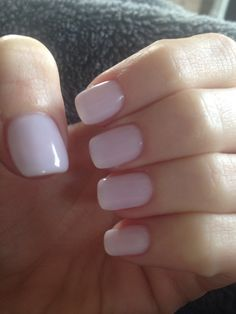 """Favorite neutral nail color lately... """"Don't Burst My Bubble"""" by OPI. This is 3 coats of the no chip polish that I tried today."""