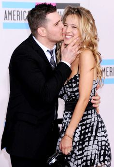 Michael Bublé and his beautiful wife