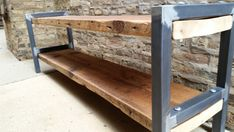 Reclaimed Wood and Metal Bench - Bota Bench // 72W x 12D x 19H