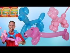 (Subtitled) how to make balloon giraffe. How to Make Balloon Animals. how to balloon animals. how to make balloon animals e. How To Make Balloon, One Balloon, Balloon Dog, Balloon Crafts, Balloon Decorations Party, Easy Balloon Animals, Balloon Sword, Sculpture Ballon, Twisting Balloons