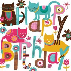 Happy Birthday Birds, Happy Bird Day, Funny Happy Birthday Meme, Happy Birthday Wishes Cards, Happy Birthday Pictures, Birthday Wishes Quotes, Birthday Love, Vintage Birthday, Birthday Greeting Cards