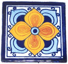 """90  Mexican Hand Painted Talavera Tiles 4"""" X 4"""""""