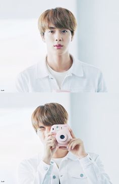 i am such a fangirl with bts! awe doesn't jin look so adorable!  ( yes he does judit )  he is such a cutie! even though he calls himself handsome! but he is and all the positive terms!  awe! jin!!
