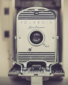 """Vintage Polaroid - Land Camera The 800 - Vintage Inspired and Dreamy - Home Decor - Fine Art Photography - """"The 800"""". $25,00, via Etsy."""