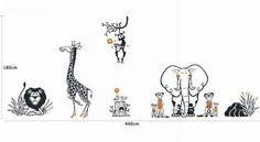 Cheap PVC Lovely Giraffe Pattern Sticker Home Decor Wall Decal Dark Grey | Everbuying.com