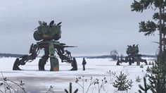 Juxtapoz Magazine - Sci-Fi Paintings by Simon Stalenhag