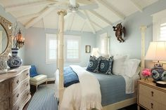 Beach Cottage Master Bedrooms - Bedroom Style Ideas