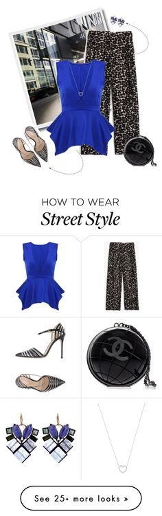 """Street style"" by janemichaud-ipod on Polyvore featuring J.Crew, Nak Armstrong, Tiffany & Co., Gianvito Rossi and Chanel"