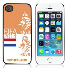 iPhone 5, 5s 2014 FIFA World Cup NL KNVB case, cover, hoesje, frontje