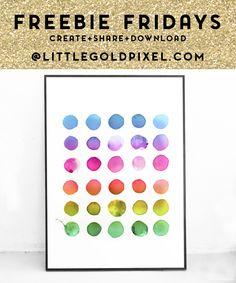 Abstract Rainbow Free Art Printable • Little Gold PixelLittle Gold Pixel