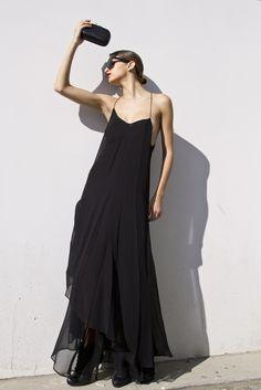 Long sheer chiffon dress Theysken's Theory SS13