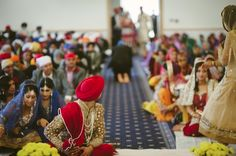 Omg…. This is beautiful.I have never seen the groom at a punjabi wedding turn around to look at his bride.