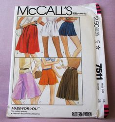 1981 Uncut  McCall's Pattern 7511 Misses by lovelylovepatterns, $3.50