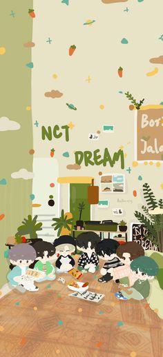 Cute Fall Wallpaper, Kawaii Wallpaper, Cute Wallpaper Backgrounds, Cute Wallpapers, Iphone Wallpaper, Aesthetic Backgrounds, Aesthetic Wallpapers, Nct 127, Ntc Dream