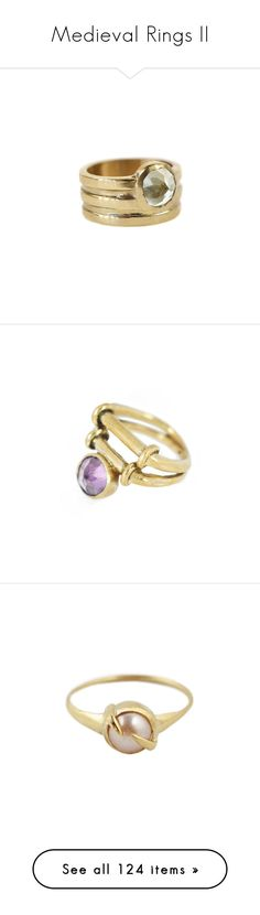 """""""Medieval Rings II"""" by savagedamsel ❤ liked on Polyvore featuring jewelry, rings, wide band rings, band rings, bronze jewelry, band jewelry, aesa, amethyst stone ring, cross jewelry and round ring"""