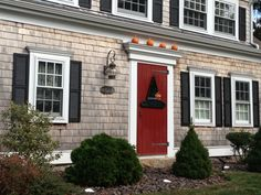 Beautiful Cape Cod Home decorated for Halloween