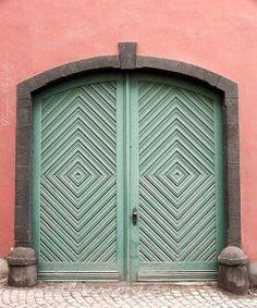 Combinación Coral & Mint en fachada