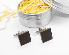 Wood Cufflinks, Elegant Outfit, Man Stylish Accessory, Gift for Him, Wedding Gift Gifts For Father, Gifts For Him, Tin Boxes, Elegant Outfit, Dark Colors, Groomsmen, Natural Beauty, Wedding Gifts, Exotic