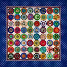 Ellen Highsmith Silver Painted Floor Cloths, Flooring, Quilts, Blanket, Frame, Silver, Inspiration, Home Decor, Picture Frame