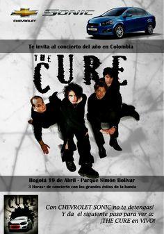 Afiche The Cure en Colombia para el concurso #TheCureDeGiraxChevrolet realizado por @Chevrolet Colombia . #TheCure #Colombia #Bogota #Chevrolet #Sonic #like #contest