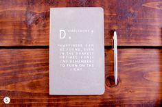 HARRY POTTER / Dumbledore Dark Wood Small Plain Journal Notebook - GREY