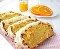 Easy Orange Cake with Orange Icing Recipe Baking Recipes, Cake Recipes, Dessert Recipes, Fruit Recipes, Orange Icing Recipes, Moist Orange Cake Recipe, Yogurt, Cake Ingredients, Tea Cakes