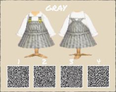 Animal Crossing 3ds, Animal Crossing Qr Codes Clothes, Motif Acnl, New Leaf, Dress Codes, New Dress, Custom Design, One Piece, Knitting