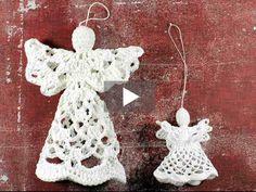 Kennst Du noch diese kleinen, gehäkelten Engel? Sie eignen sich prima als Geschenk oder als weihnachtliche Deko für den Baum. Im Video zeigen wir Dir Schritt für Schritt, wie Du einen Engel häkeln kannst.