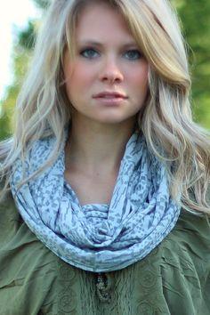 NanaMacs Boutique - Grey Aztec Cotton Blend Infinity Scarf, $18.00 (http://www.nanamacs.com/grey-aztec-cotton-blend-infinity-scarf/)