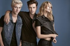 Francisco and Lucky Blue are joined with Lucky's sister Clementine Daisy and Swedish bombshell Frida Gustavsson.