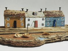 Made from driftwood, nut shells and reclaimed materials. Measures approx x x Unique and signed on the underside Kitsch, Kirsty Elson, Driftwood Art, Little Houses, Arts And Crafts, Photo And Video, Instagram Posts, Cute, Unique