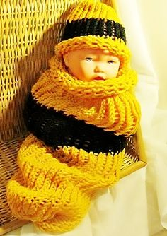Unisex Bumble Bee Baby Snuggie Set | SherryCreates - Knitting on ArtFire