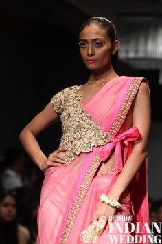 Anushree Reddy marched out a gorgeously soft and delicate pink collection on the Jabong Stage on Monday. Each piece featured a striking fusion of East meets West with traditional Indian textiles worked into trendy versions of classic Desi looks.  Reddy chose such a pretty color palette withpinks and greens accented with metallic borders and  [...]