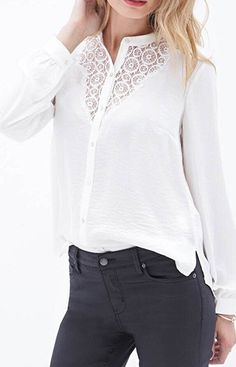 Lace Decorated Blouse – Trendy Road