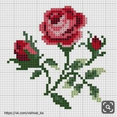 pattern / chart for cross stitch, knitting, knotting, beadi Mini Cross Stitch, Cross Stitch Rose, Cross Stitch Flowers, Cross Stitch Charts, Cross Stitch Designs, Cross Stitch Patterns, Cross Stitching, Cross Stitch Embroidery, Broderie Simple