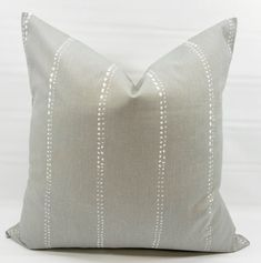 Items similar to Carlo Grey Pillow Cover. Storm Grey and white In Carlo Print Pillow cover . Select your size on Etsy Grey Pillow Covers, Grey Pillows, Decorative Pillow Covers, Throw Pillows, Cover Pillow, Peel And Stick Shiplap, Blue Artwork, Pillow Arrangement, Designer Pillow