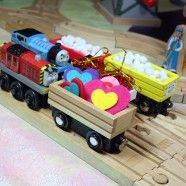 Easy DIY Valentine Freight for Wooden Trains. What a great idea!!!