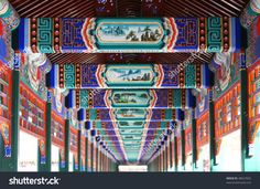 Long corridor in Summer Palace, Beijing