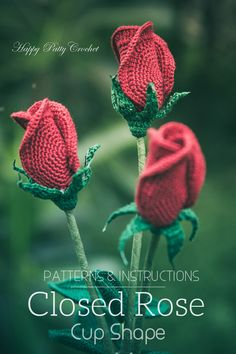 Rose, Close (Cup Shape) by Happy Patty Crochet