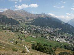 Verbier en verano, sur occidente de Suiza en el Cantón Valais.