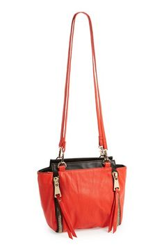 POVERTY FLATS by rian Double Strap Faux Leather Shoulder Bag | Nordstrom