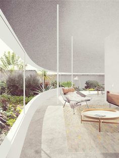 A long and simple curving wall between the living spaces and garden of this Lilyfield home redefines the concept of the threshold between inside and out. Architecture Graphics, Architecture Drawings, Architecture Plan, Interior Architecture, Architecture Diagrams, Architecture Portfolio, Photomontage, Photoshop Rendering, Urban Design Concept