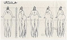 Original model sheets for Ursula from Disney's The... - The Disney Elite